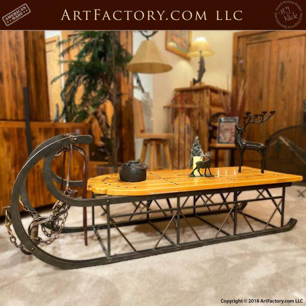 Custom Sleigh Coffee Table: An H.J. Nick Original Design