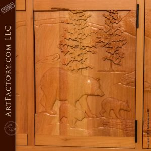 Hand carved display cabinet
