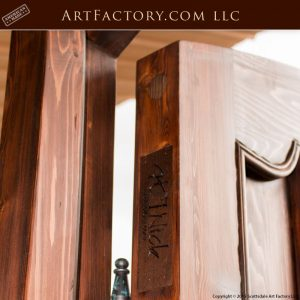 solid wood castle door