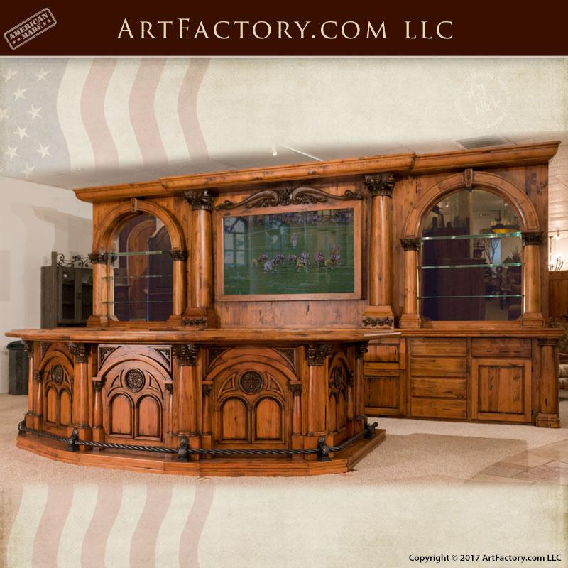 old west saloon bar hand carved wood bar modern western bar