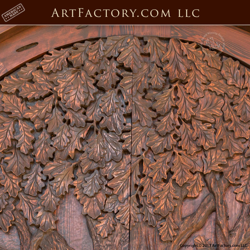 Lodge Grand Entrance Door Fine Art Hand Carved Nature Theme