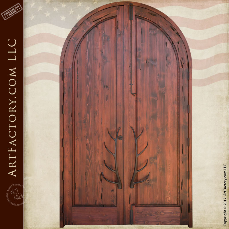Lodge Grand Entrance Doors Fine Art Hand Carved Nature Theme
