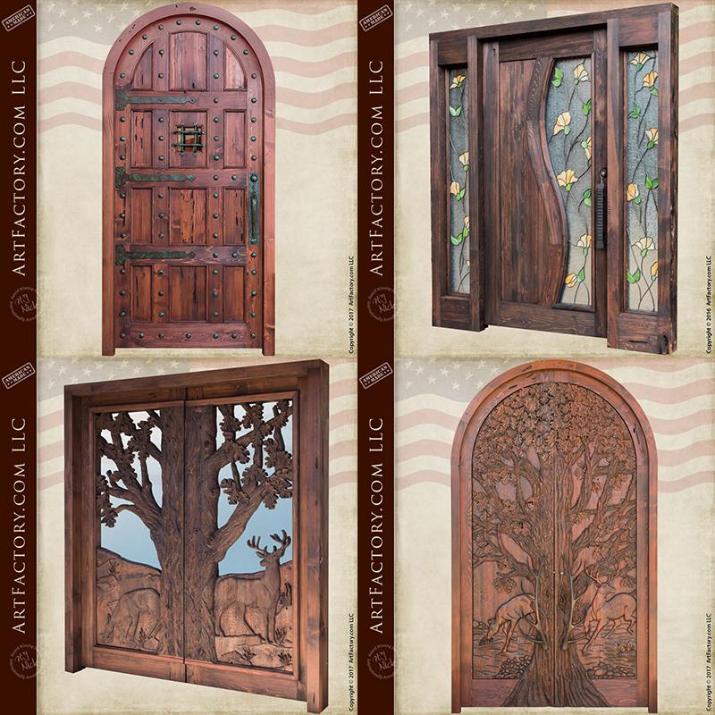 Custom Solid Wood Doors Hand Carved Doors Craftsman Doors