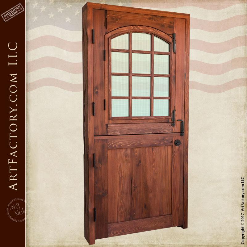 Custom Dutch Door Solid Wood Entry Door With 12 Pane