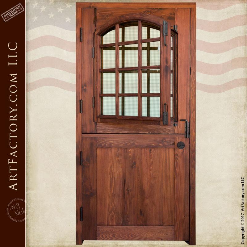 Custom Dutch Door: Solid Wood Entry Door With 12 Pane