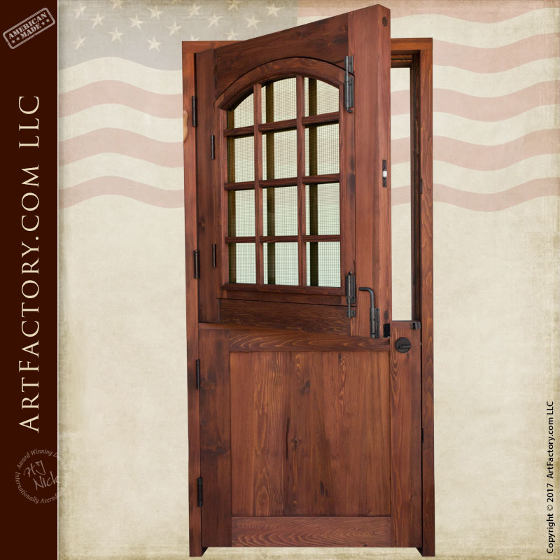 Custom Dutch Door Solid Wood Entry Door With 12 Pane