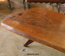 building wood furniture with butterfly joints