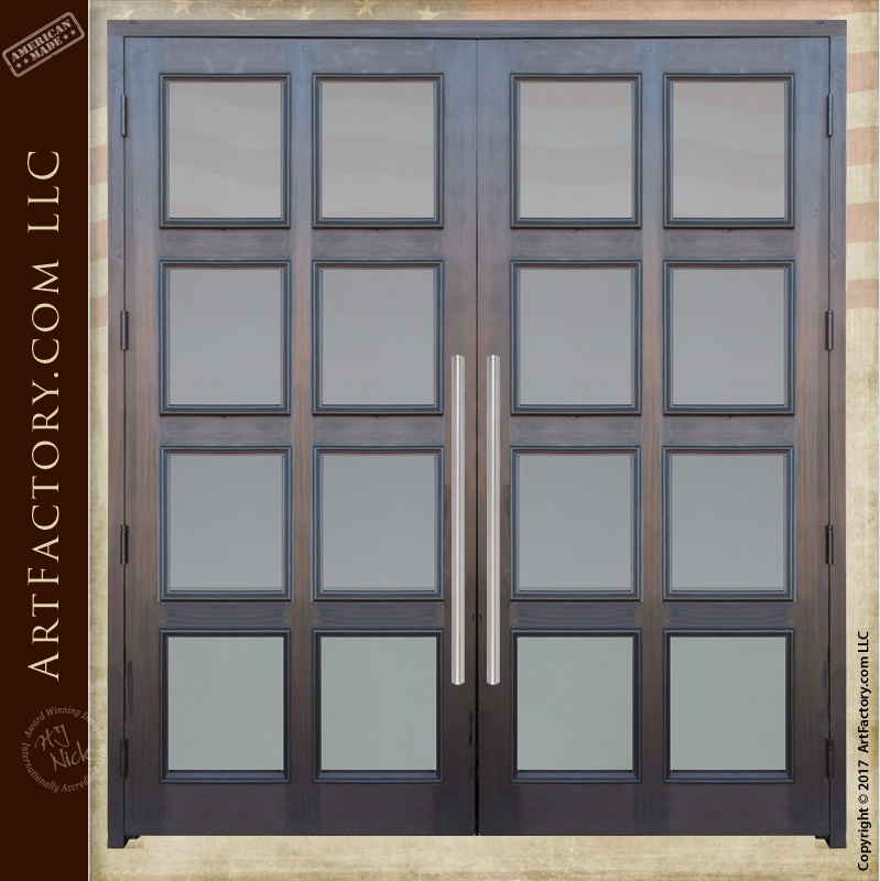 French Entrance Doors: Solid Wood With 8 Panel Glass Design U2013 9994CD