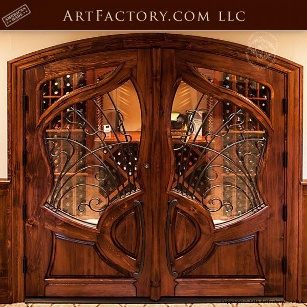 Art Nouveau wine cellar door