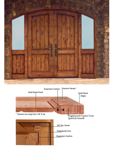 Particle board door