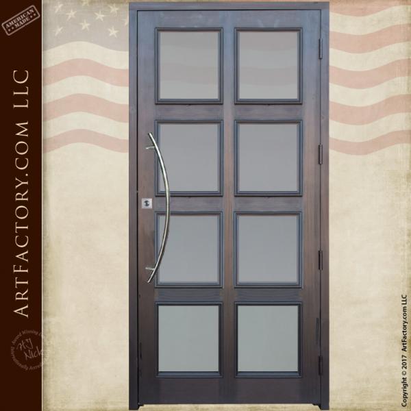 Contemporary Custom Glass Panel Door Modern 8 Panel Entrance Doors