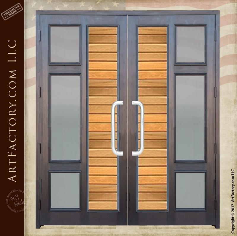 Contemporary Custom Double Doors Modern Entry Glass Panel Doors