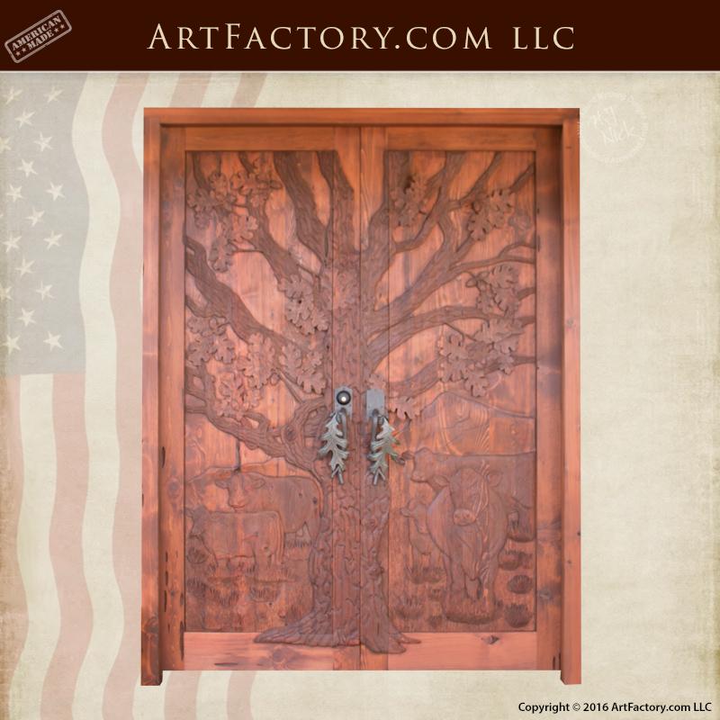 Rustic Hand Carved Doors