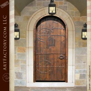 Viking inspired cathedral door