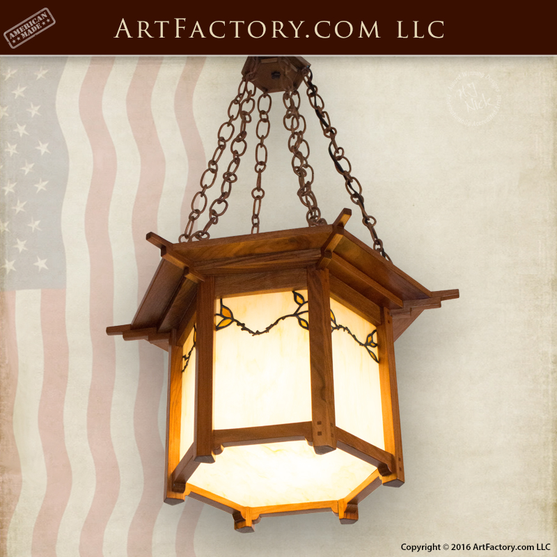 stained glass craftsman chandelier