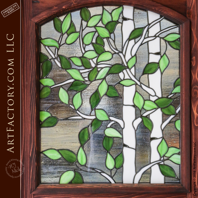 Stained Glass Dutch Door Custom Aspen Tree Fine Art Window