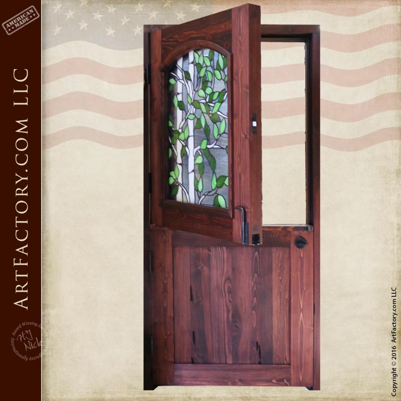 Stained Gl Dutch Door