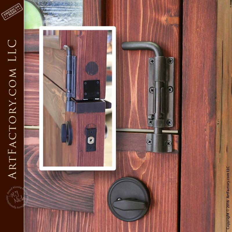 Stained Gl Dutch Door Custom Hardware Information