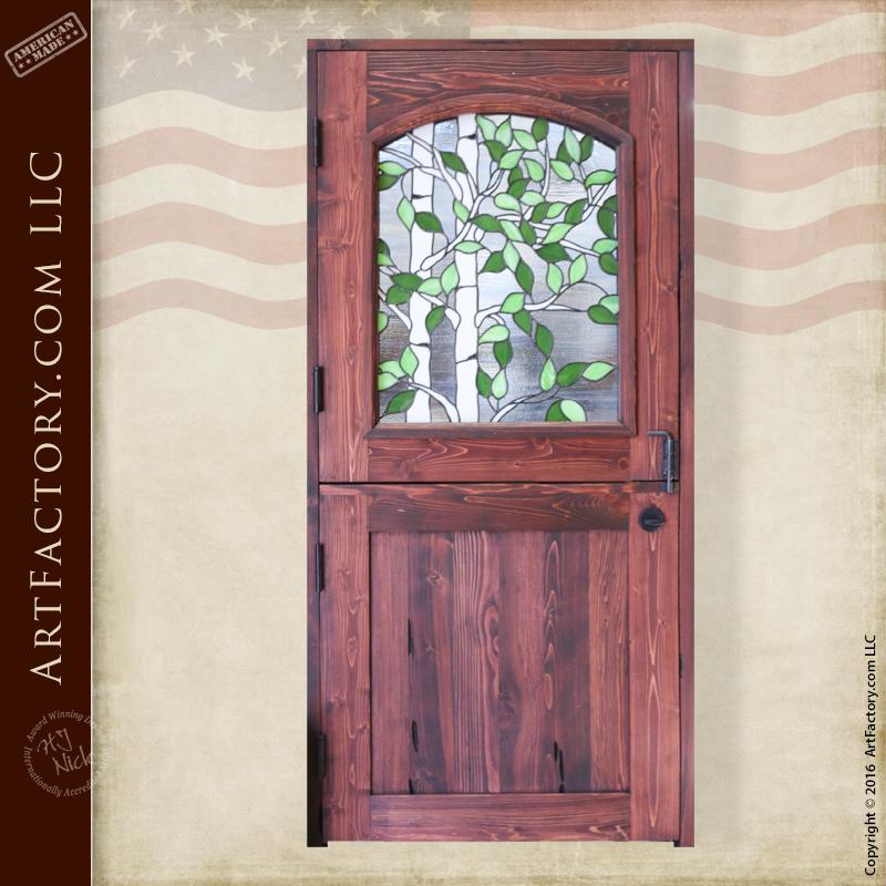 Stained Glass Dutch Door Custom Aspen Tree Fine Art Window
