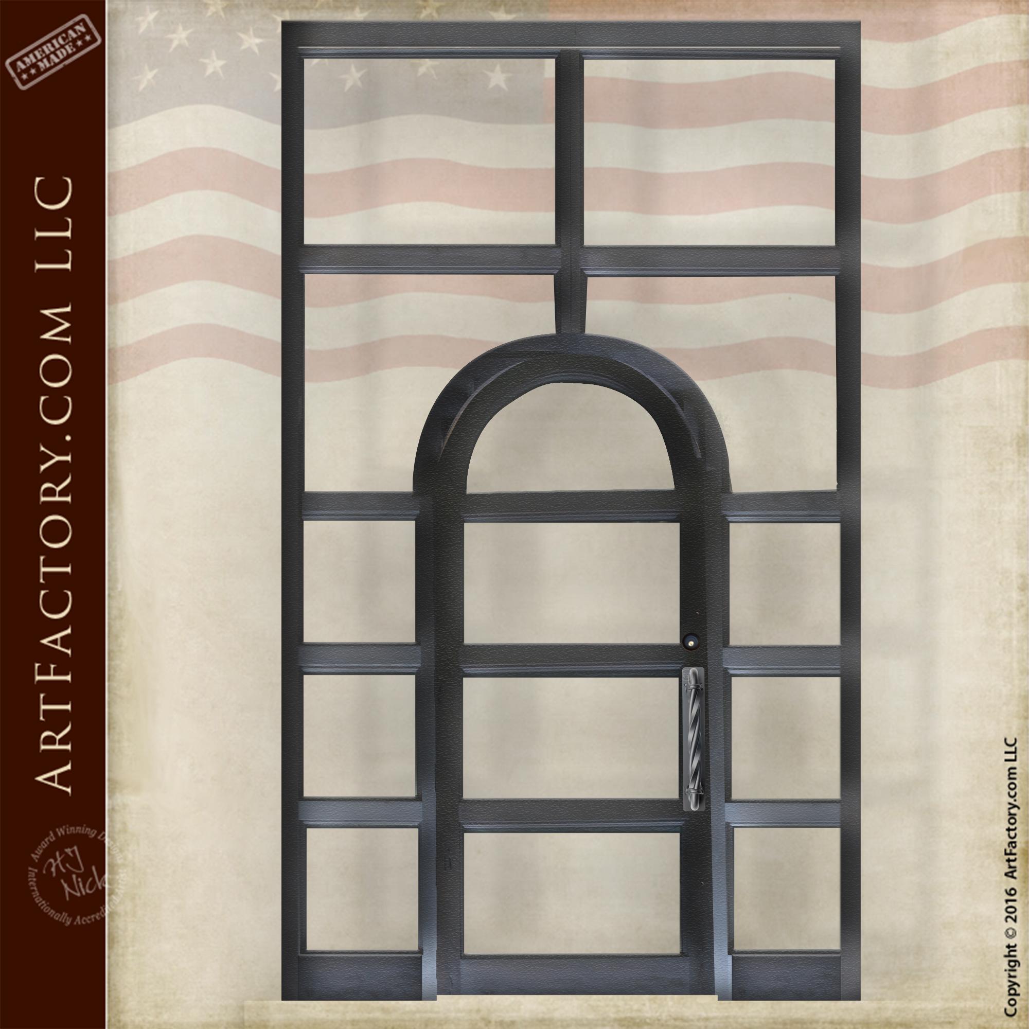 bullet resistant glass door
