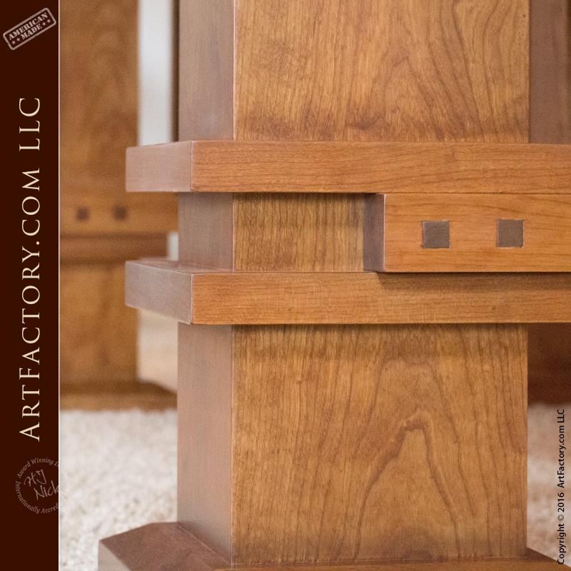 Custom Craftsman Style Table: Frank Lloyd Wright Inspired