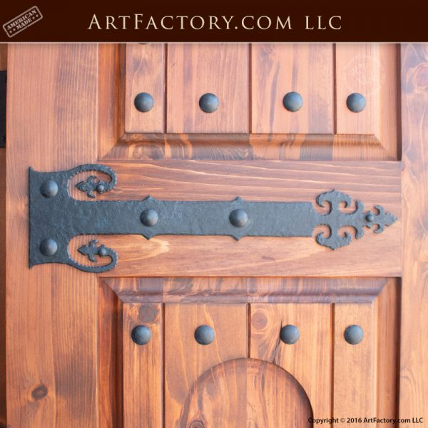 medieval style strap hinges
