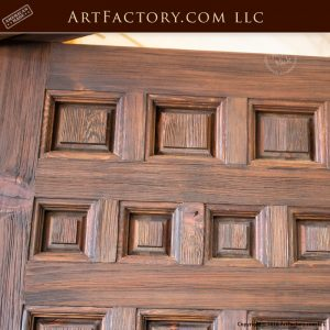 custom variable sized wood panel door