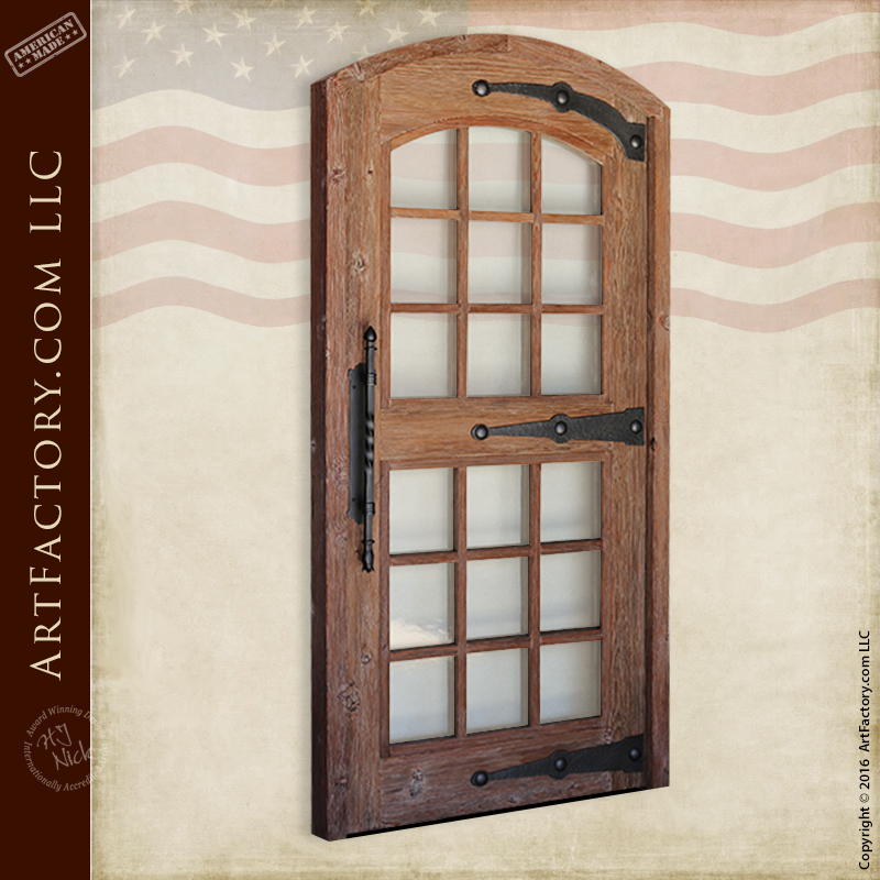 Eyebrow Arch Glass Panel Door With Matching Complimentary Windows