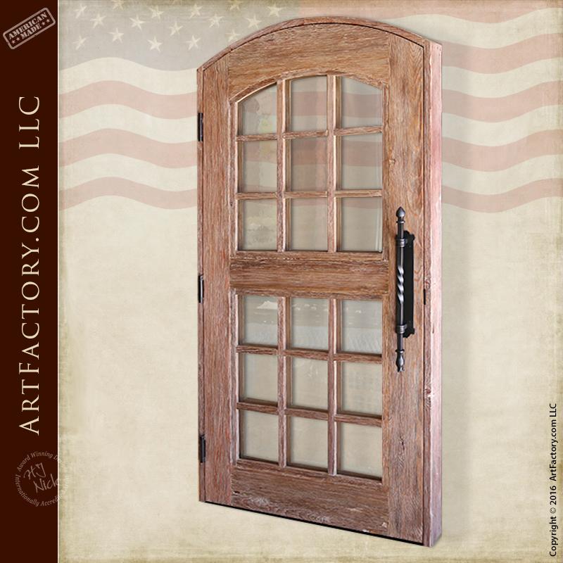 eyebrow arch glass panel door