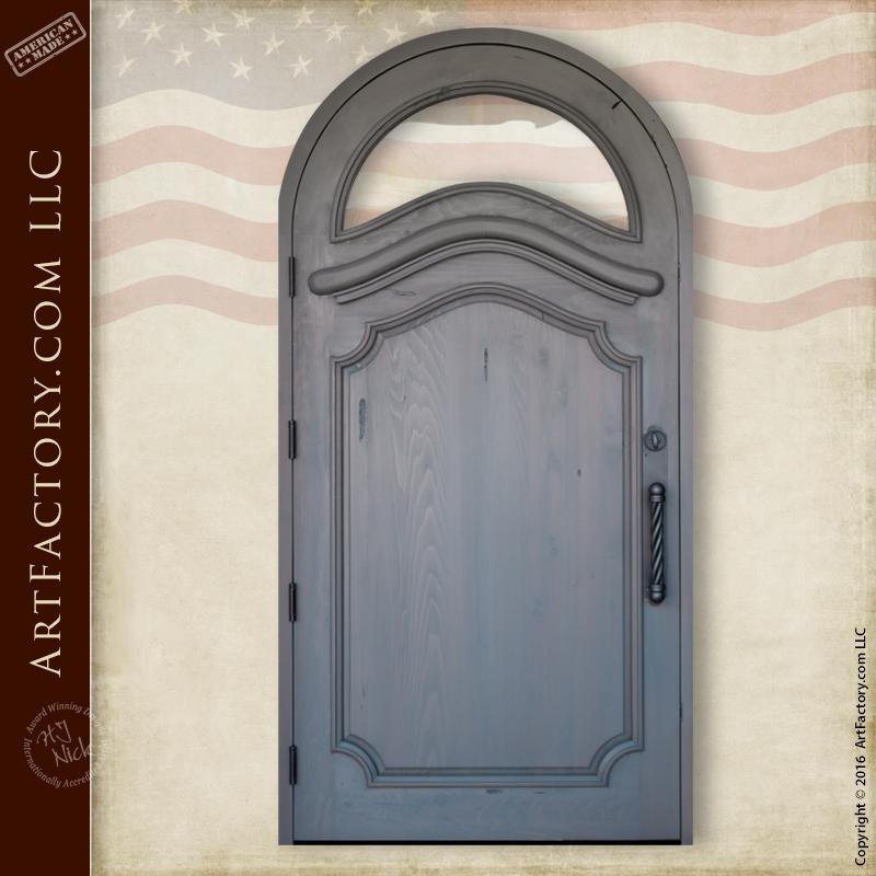 custom arched front door