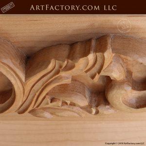 hand carved custom pantry door