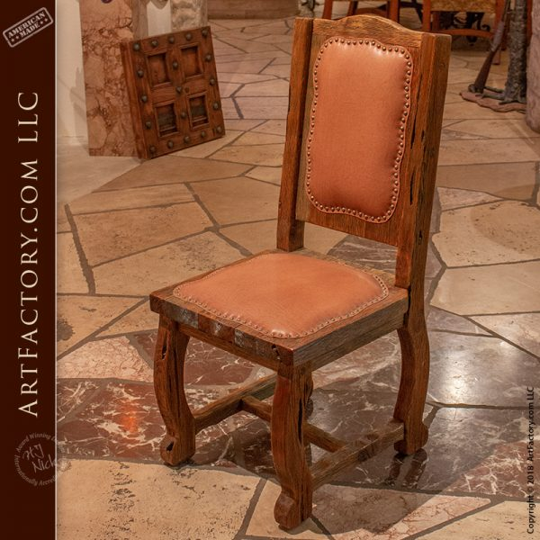 rustic castle dining chairs