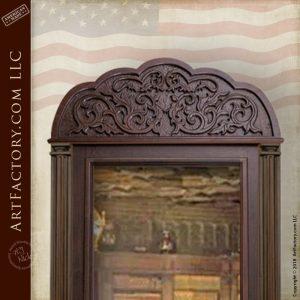 hand carved mirror door
