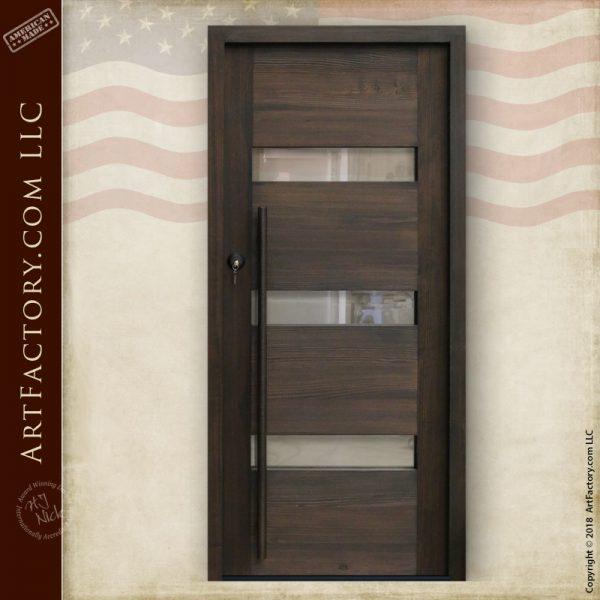 contemporary glass panel door