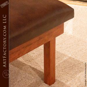 custom cherry wood weight bench