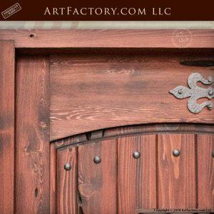 wooden castle gate