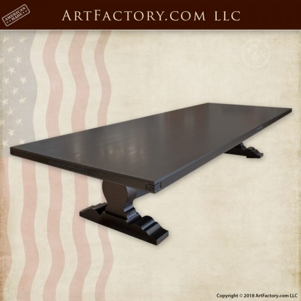 solid wood banquet table