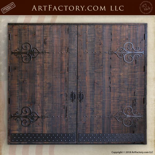 custom gothic double doors