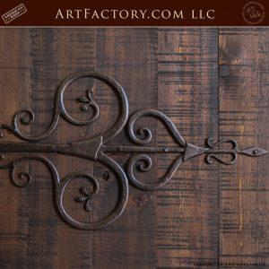 custom gothic double doors with medieval Spanish hinge straps
