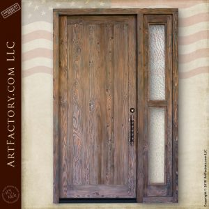 rustic wood front door
