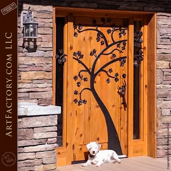 Custom Dogwood Tree Door
