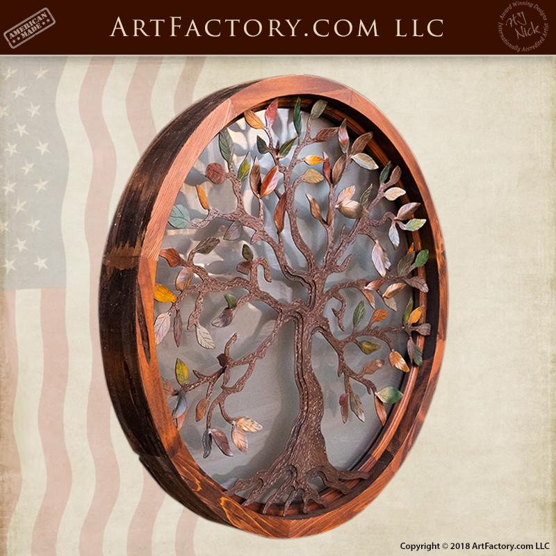 Custom Decorative Overlay Window Circular Tree Of Life Design