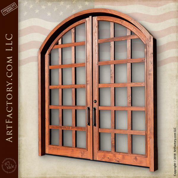 French panel double doors