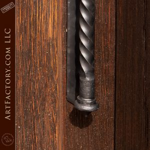 medieval spearhead door handle