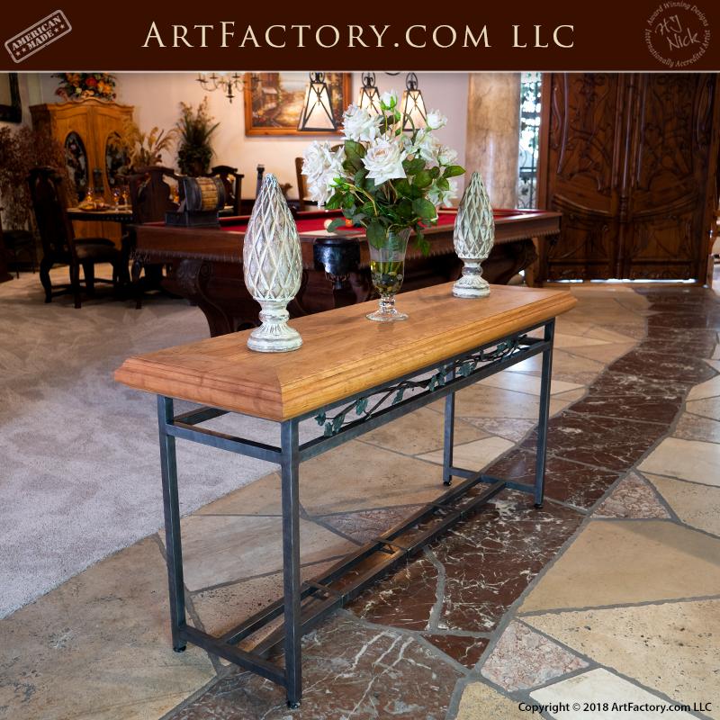 custom foyer table