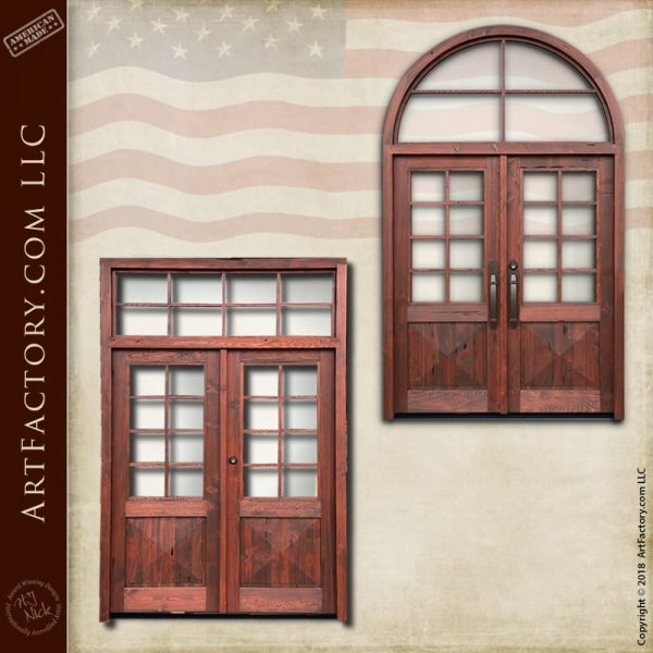 divided glass panel doors