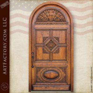 Custom Hand Carved Lion Arch Door