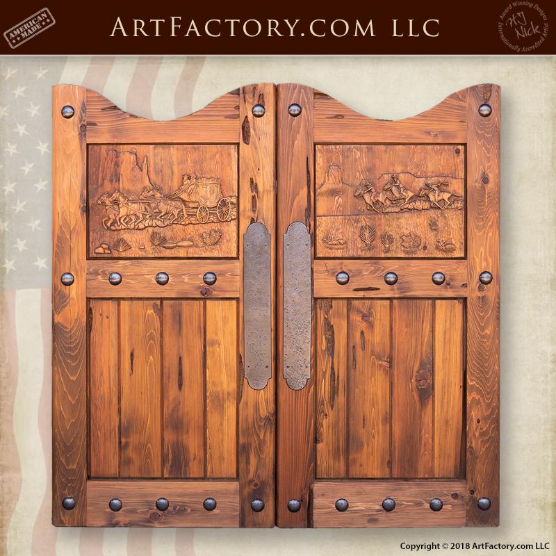 Custom Hand Carved Saloon Doors