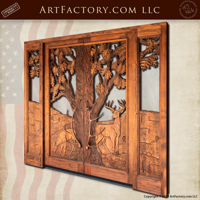master hand carved grand entrance