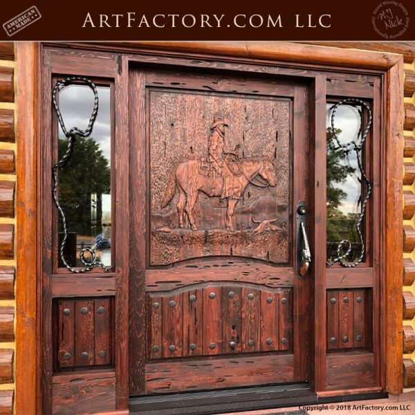 western hand carved door